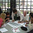 Eva, Kelly, Jeff, Brad and others work on the Bicentennial Bikeway Plan